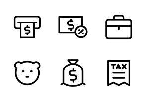 Editable Stroke: Banking