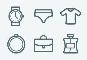 ELASTO Fashion, сlothes and footwear Flat & Outline icons