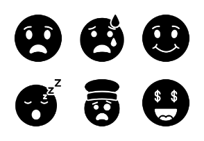 25 Emojis and smileys in glyph