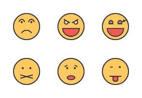 Emoticons Filled Line