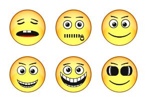 Emotion on a face
