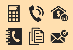 ERP software - icon set 1