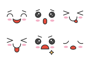 Face emoticon set 2