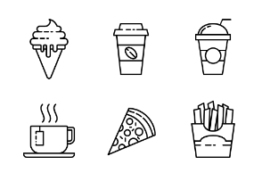 Fast Food Outline Pixel Perfect