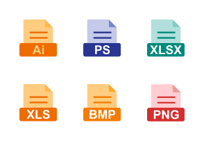 File Formats Flat Colorful