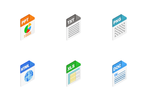 File Types - isometric