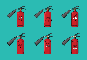 Fire Extinguisher Emoji Cartoons
