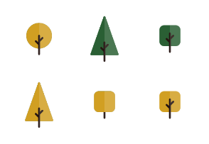 Flat colored trees