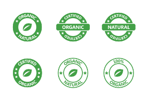 Organic, Natural, Vegetarian, Vegan, Cruelty-free Stamps