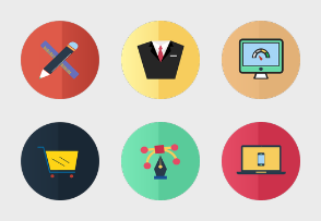 Flat services icons