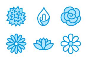 Flowers - Blue