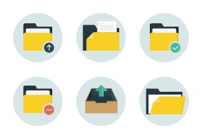 Folders flat icons