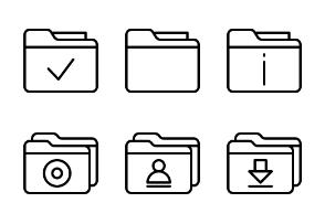 Folders & Data (Lineal)