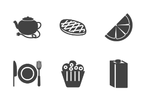 Food & Drinks Glyph (Black)