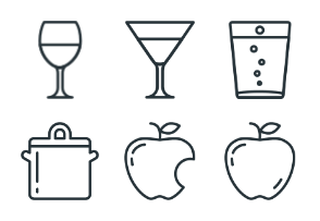 Food - Stroke Icons