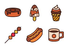 Food yummyyy (Filled line)