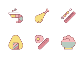 Foods With Color Iconset
