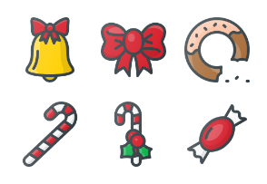 Free Color Christmas Icons