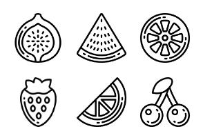 Fruit - Outline