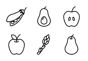 Fruits And vegetable - Outline