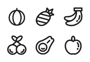 Fruits (Line Style)