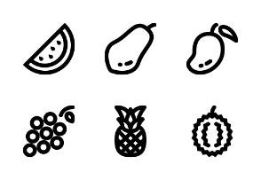 Fruits - Line