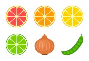 Fruits & Vegetables - Color