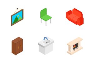 Furniture for living room - isometric