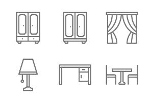 Furniture & Home Decoration - Outline
