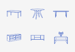 Furniture Table - Outline