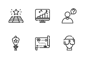 Game Outline Iconset