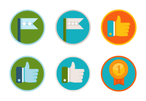 Gamification flat awards and badges