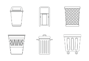Garbage container - Outline
