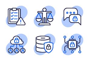 GDPR Shape Colors - General Data Protection Regulation