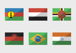 Gloss rectangle flags