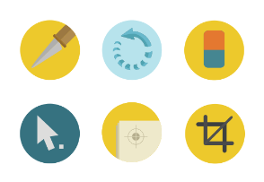 Graphic Design Tools Flat Colorful icons SVG