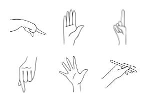 Hand drawn hands