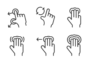 Hand Gesture Icons set 2