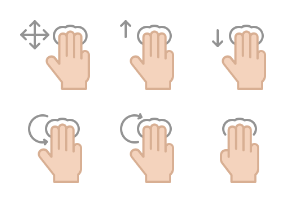 Hand Gesture Icons set 7