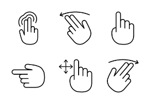 Hand Gestures Outline