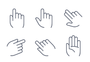 Hands & gestures (outline)