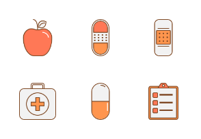 Health medical icon pack