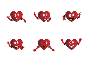 Heart Emoji Cartoons