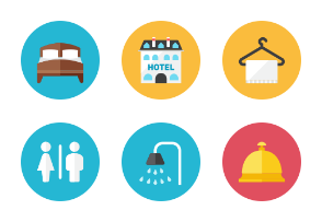 Hotel Icons - Rounded