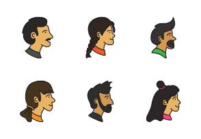 Human Head Avatar Filled Line