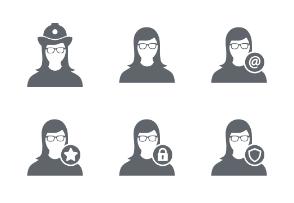 Female User Person Avatar Glyph Vol 4