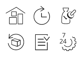 Icons for manufacturing and commerce