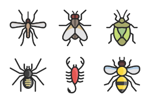 Insects - Filled outline