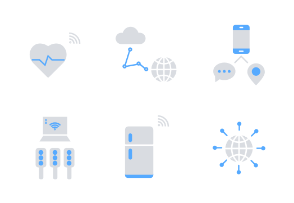 Internet of Things - Blue Gray