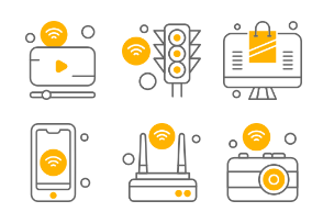 Internet of Things Line Grey and Yellow